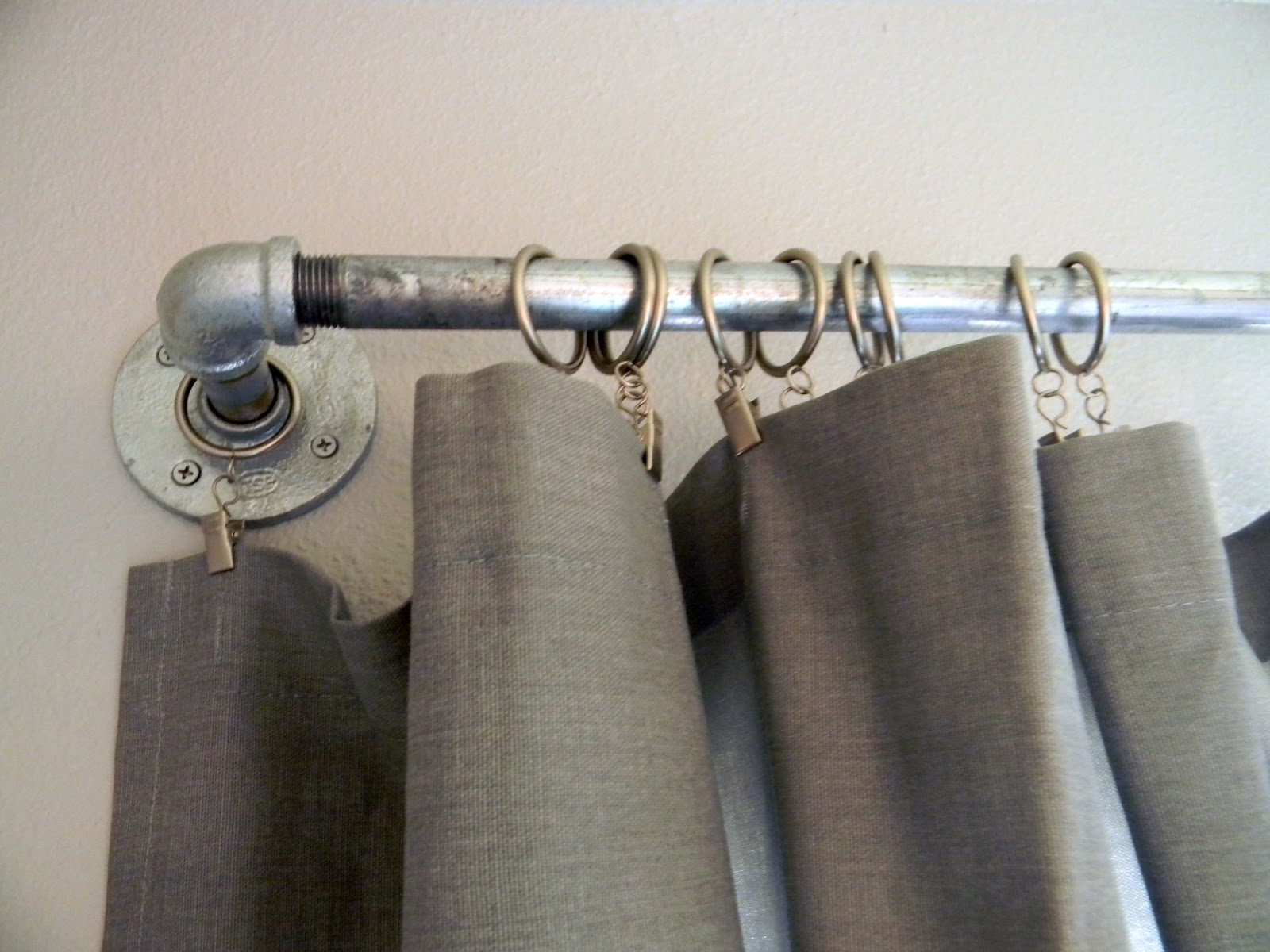 Nautical striped shower curtains - Diy West Elm Curtain Rod Amp Striped Curtains Schue Love