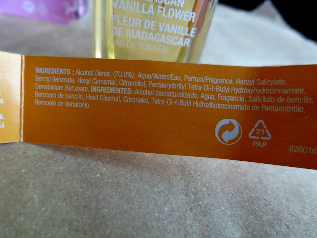 The body shop voyage collection Madagascan Vanilla Flower Fragrance