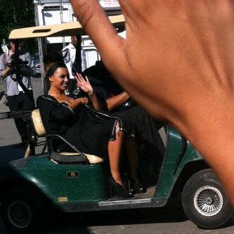 Beyonce sur le tournage de son clip Party