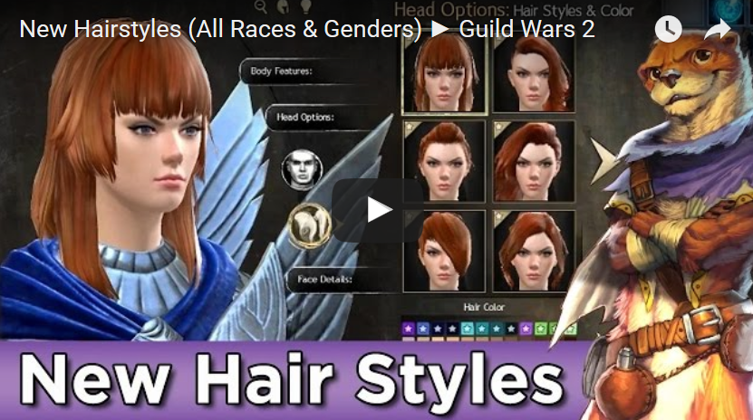Guild Wars 2 Data Guild Wars 2 New Hairstyles All Races