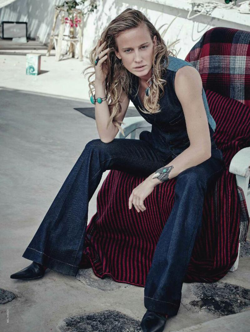 Natasa Vojnovic- by Mel Karch- for Marie Claire -Italia-Fashion-Editorial-boho-Freedom