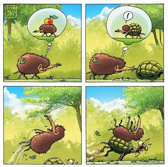 ежик и черепаха
