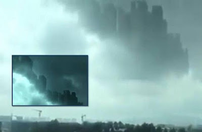 Ghost City Appears In Clouds Above China 2015, UFO Sightings