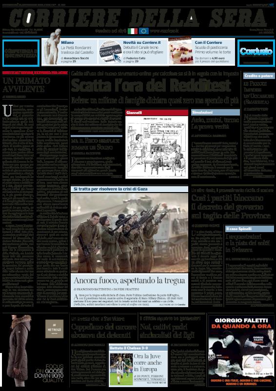 Balbettanti poietici corriere prima pagina oggi come for Corriere della sera arredamento