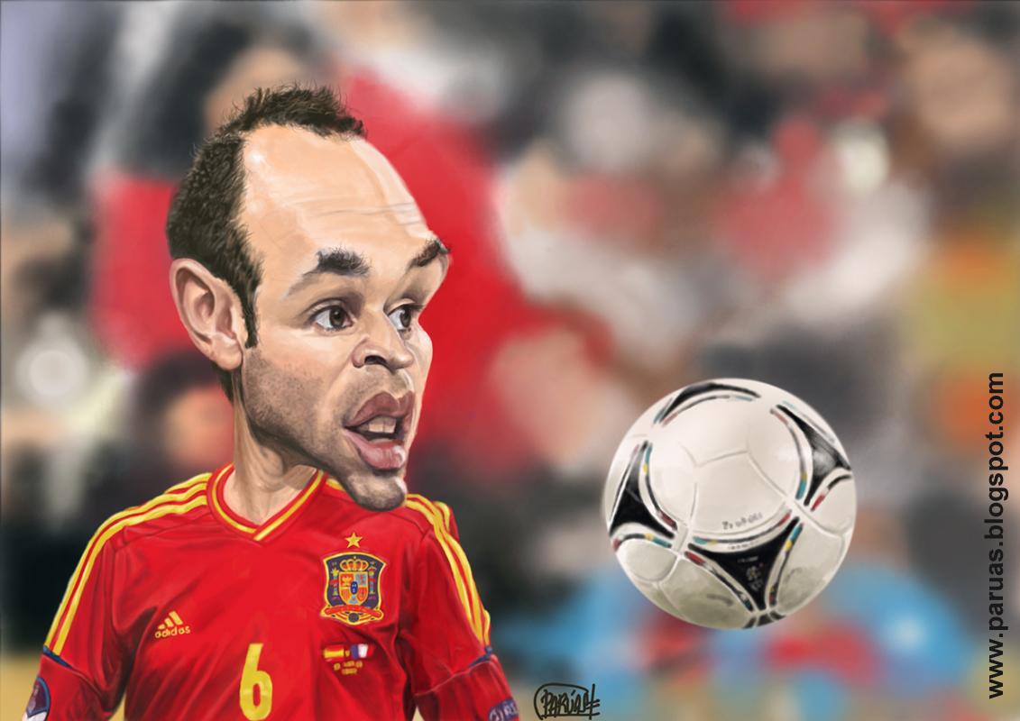 Iniesta Caricatura Caricatura Andrés Iniesta