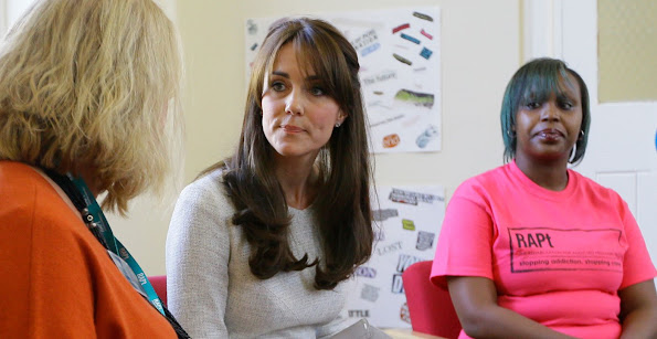 Kate Middleton visited a rehabiltation centre at HMP Send