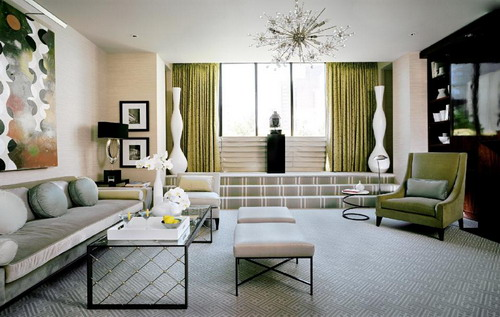 Venetian Inspired Art Deco Living Room Luxurious Finishes Images