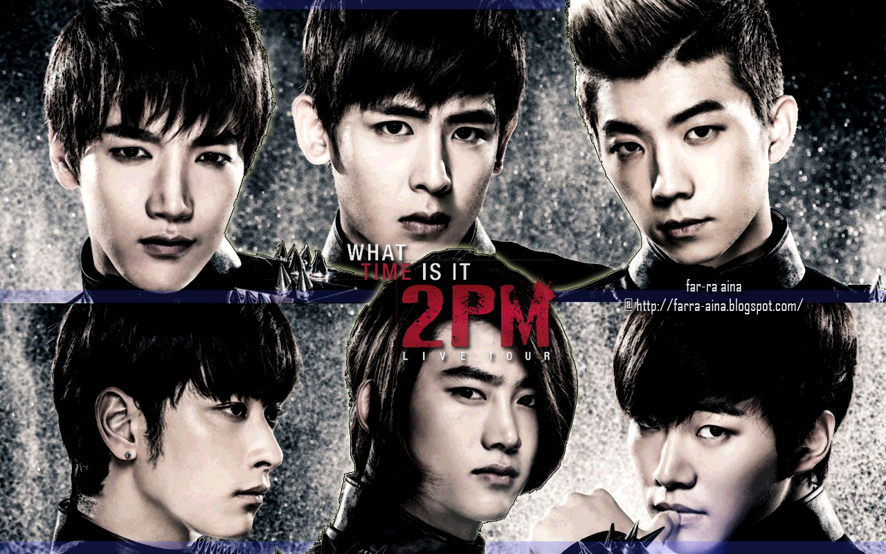 pop lover ^^: 2PM  2012 2PM Live Tour quot;What Time Itquot; WALLPAPER