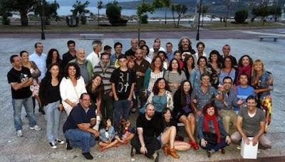 Reunión do reparto e equipo da serie de TVG, Portozás, Luis Tosar