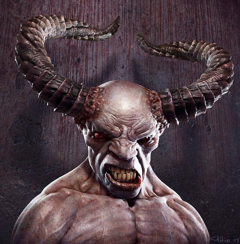 Foto real del Diablo, el señor de las tinieblas, Lucifer, Belcebu, Satanás... Satan, el enemigo de Dios. Aqui lo vemos muy enojado | Ximinia