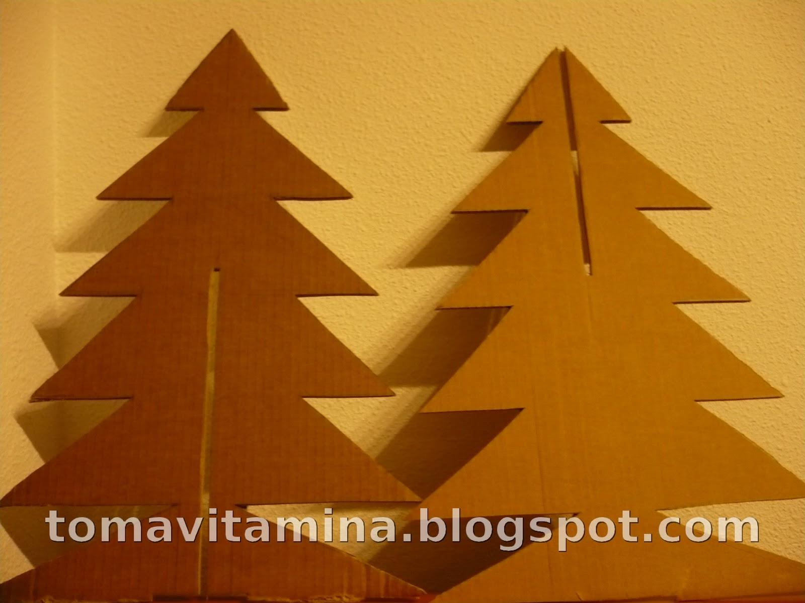 Toma vitamina tutorial rbol de navidad con cart n for Arbol de navidad con cajas de carton