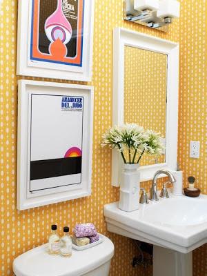 banheiros com quadros
