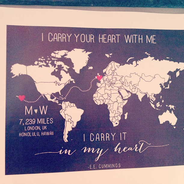 Long distance valentine poem