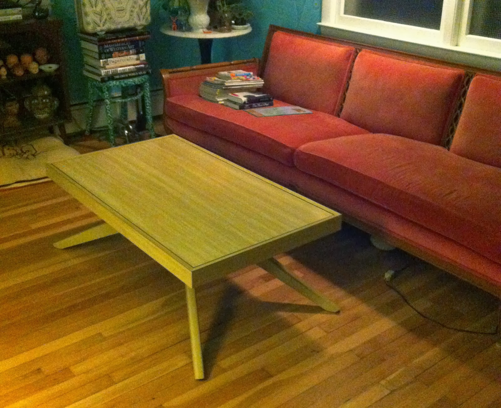 on the verge of snapping Vintage MCM Coffee Table