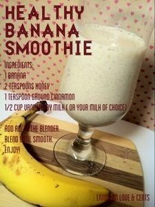 Healthy banana smoothie recipes