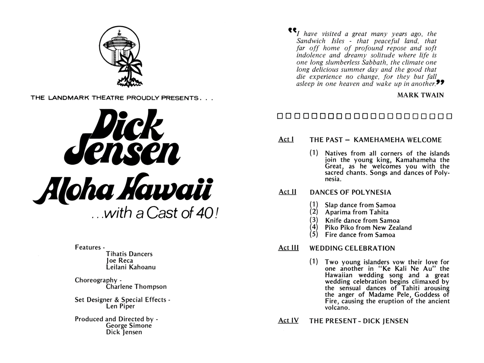 Stereo Candies: DICK JENSEN - ALOHA HAWAII AT THE LANDMARK THEATRE ...