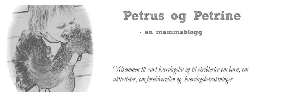 Petrus og Petrine, - en mammablogg