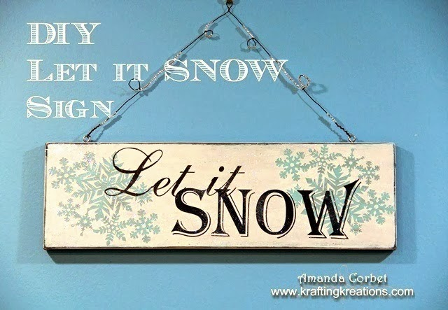 DIY Let It Snow Sign