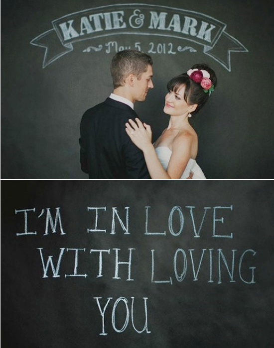 Wedding photo booths chalkboard