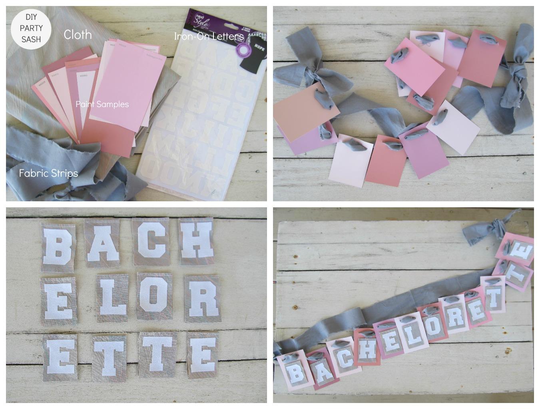 Bachelorette Bling DIY Party Sash Or Custom Banner