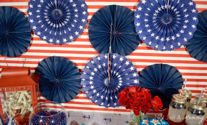 How to create a nautical patriotic table backdrop