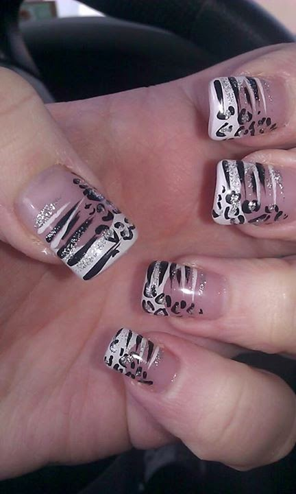 Latest Black and white Nail Designs