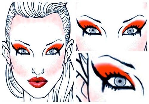 maquillaje inspiracion ira plantilla