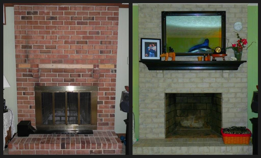 Fireplace Decorating: Warning: Everything Else Will Look Outdated! : painting brick fireplace ideas : Fireplace Design