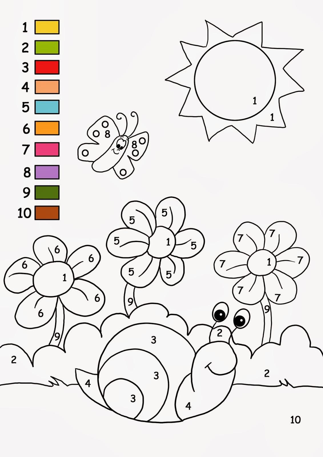 coloriage magique avec des chiffres pour gs et maternelle