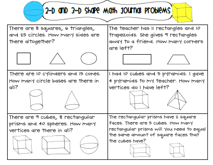 3d geometry worksheets grade 3
