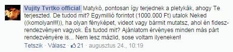 Vujity Tvrtko, választások, politika, Magyarország, Facebook, média,