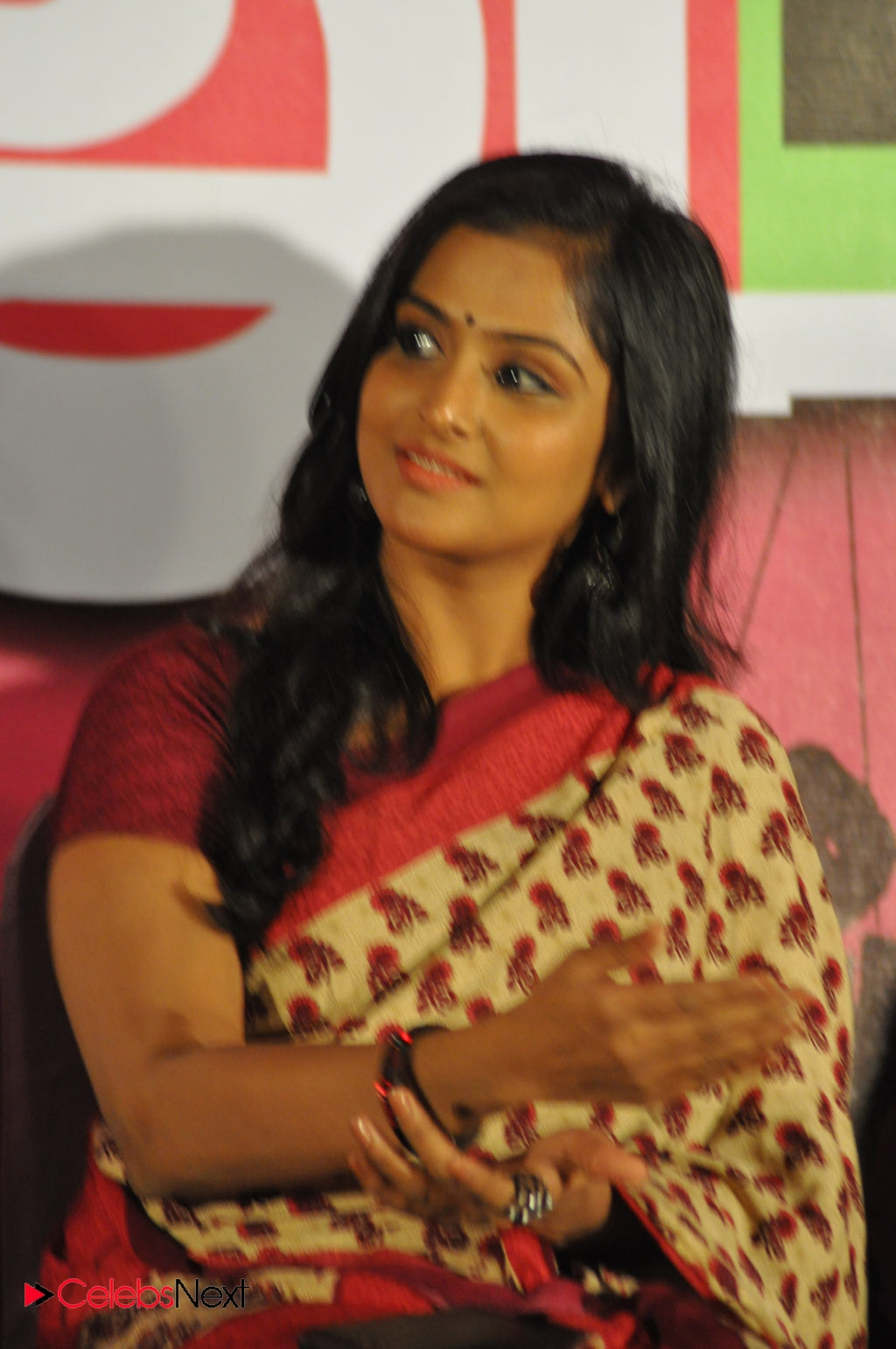 ramya nambeesan photos in saree at rendavathu padam movie audio