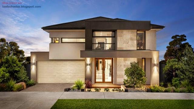 Fachadas de casas de dos pisos modernas fachadas de for Fachadas de viviendas modernas