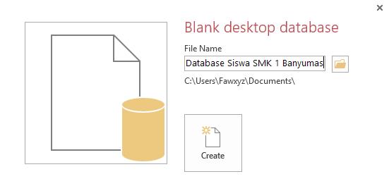 membuat database dengan access