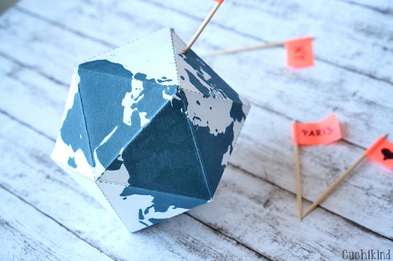 Cuchikind diy blog basteln und n hen f r kinder mini - Weltkarte basteln ...