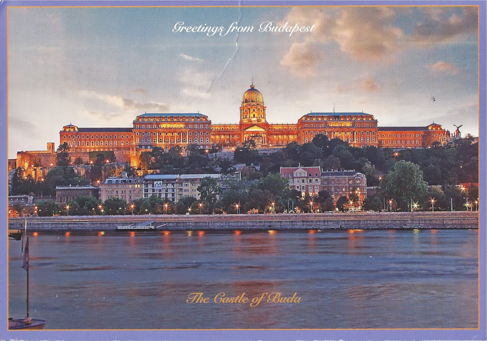A Journey Of Postcards Greetings From Budapest Hungary Buda Castle