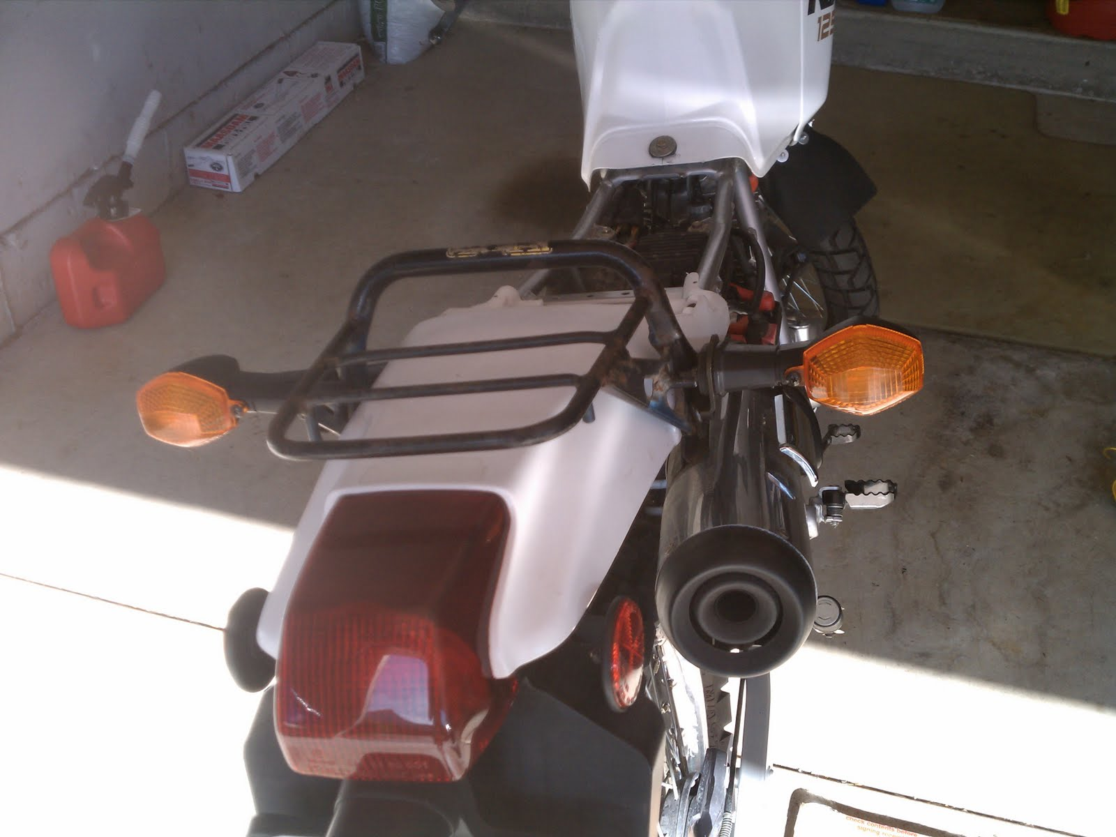 Commuter Nx Transition Custom Rear Rack To Factory Wiring Harness Sleeve I Also Used Some Honda Protect The Wires From Dirt Debris Water Etc There Are Not Three Middle One Is A