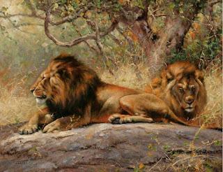 cuadros-de-paisajes-con-leones