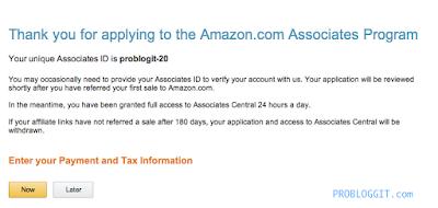 Cara Mendaftar dan Menghasilkan Uang Melalui Program Afiliasi / Affliate Amazon