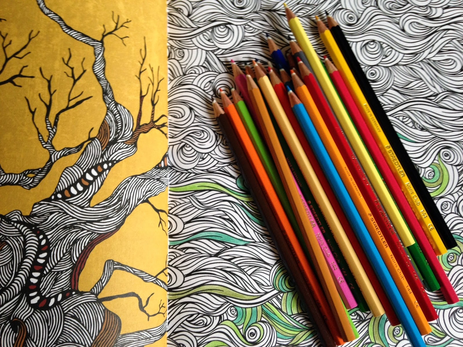 Anti stress coloring therapy - Art Therapy An Anti Stress Colouring Book Book Review The Small Desk