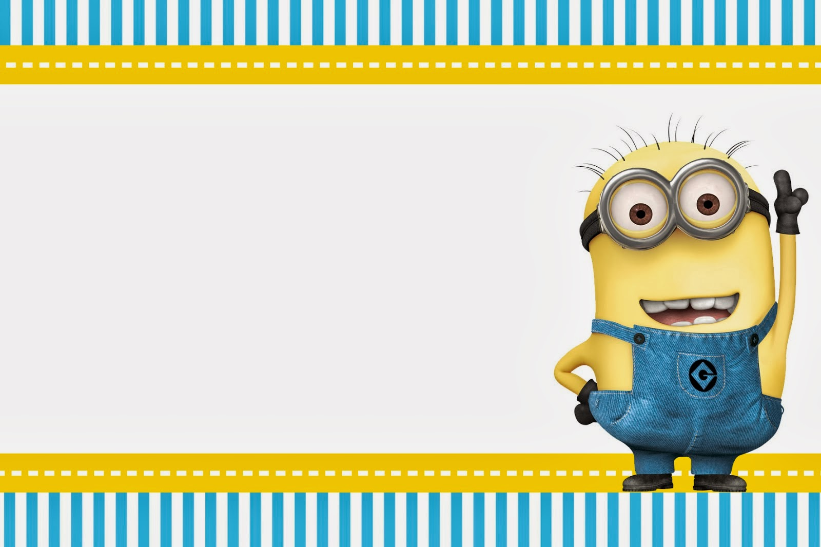 Delicate image with minions printable invitations