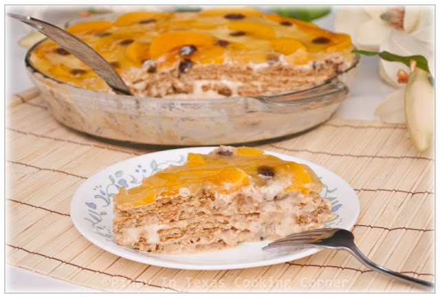 Peach refrigerator cake