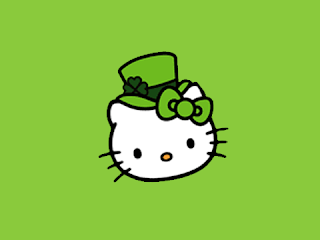 Hello Kitty Happy St Patrick's Day Blackberry mobile cell phone 480x360
