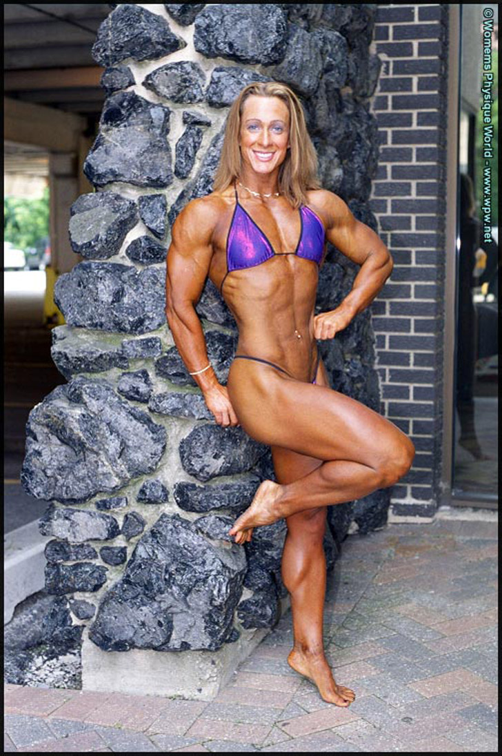 Amanda Dunbar Modeling Her Ripped And Muscular Physique