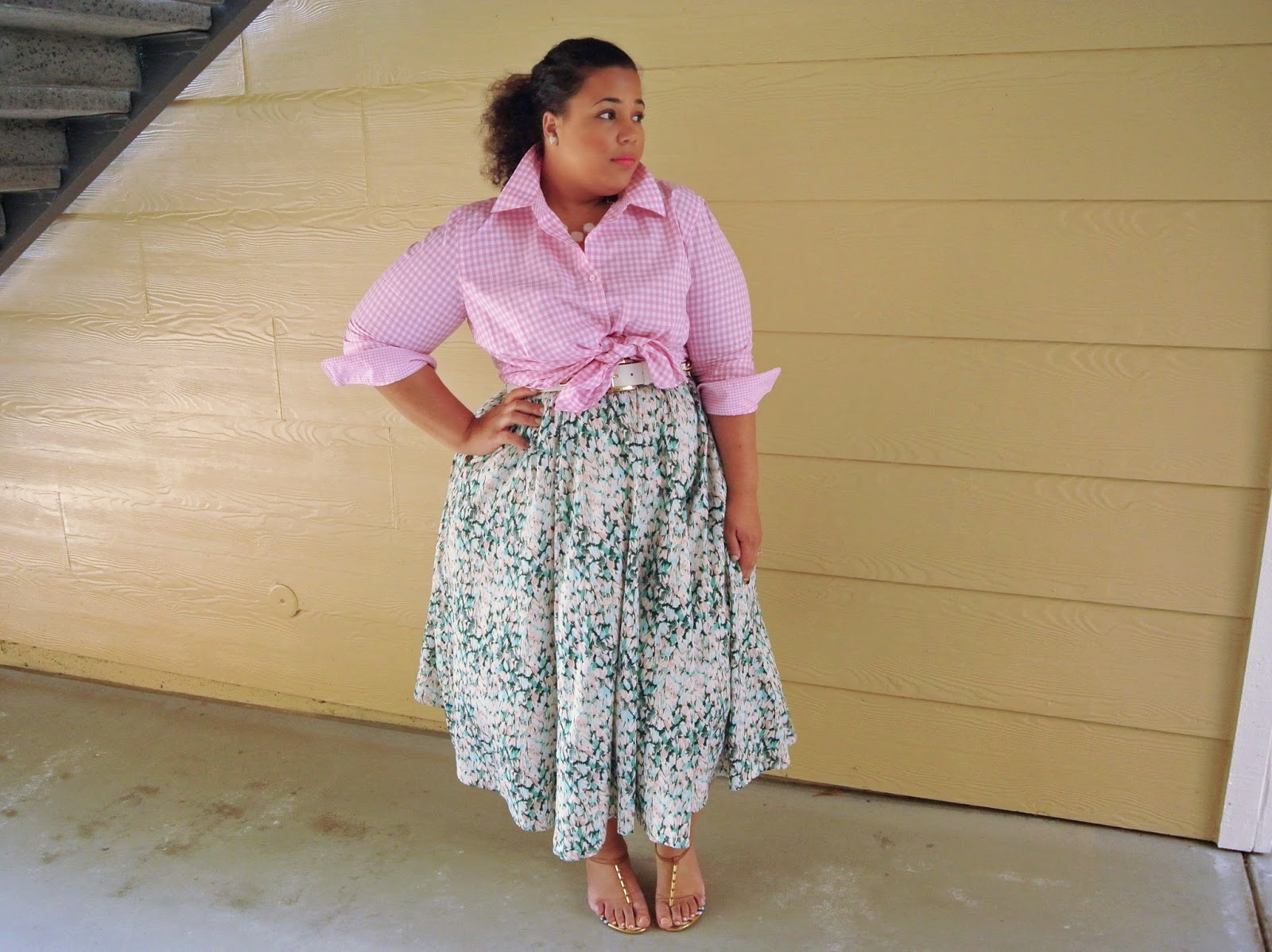 Plus Size gingham peplum top, Plus Size Outfit Ideas