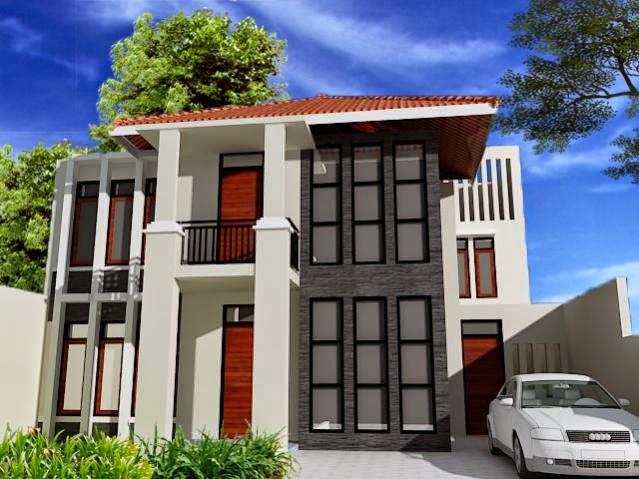 gambar desain rumah mewah minimalis terbaru desain denah