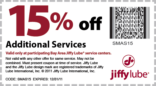 State Inspection Coupon >> Jiffy Lube Bay Area State Inspections