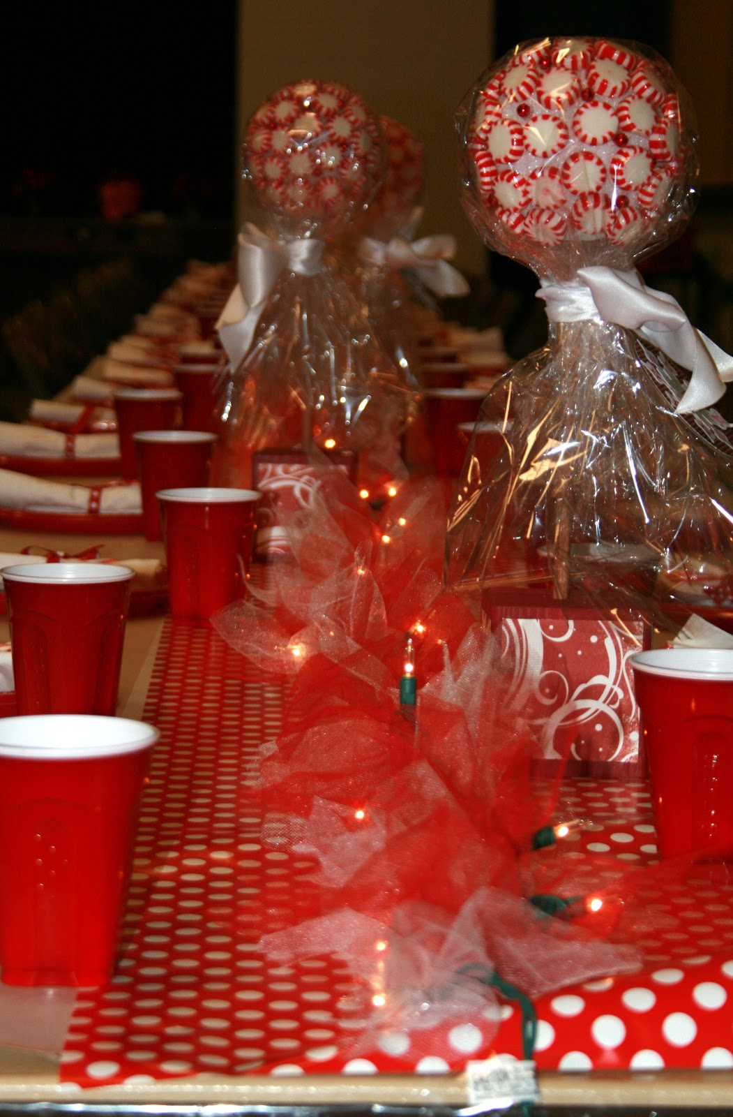 Little Miss Suzy Q: Ward Christmas Party Center Pieces (and some rambling  about our Christmas plans)