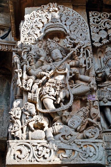 Shiva with Trishul in his hand