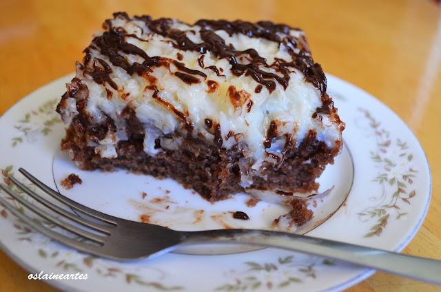 Bolo de Chocolate com Cobertura Prestigio